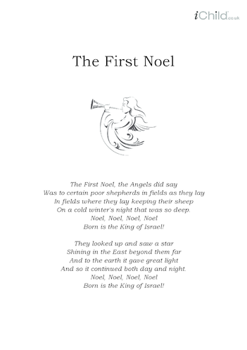 Thumbnail image for the Christmas Carol Lyrics: The First Noel activity.