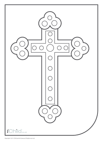 Thumbnail image for the Cross Colouring in picture activity.