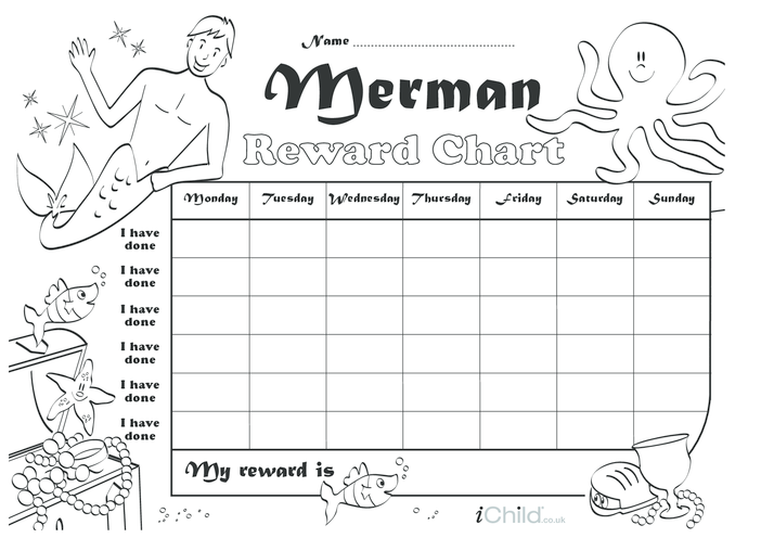 Thumbnail image for the Merman Reward Chart activity.