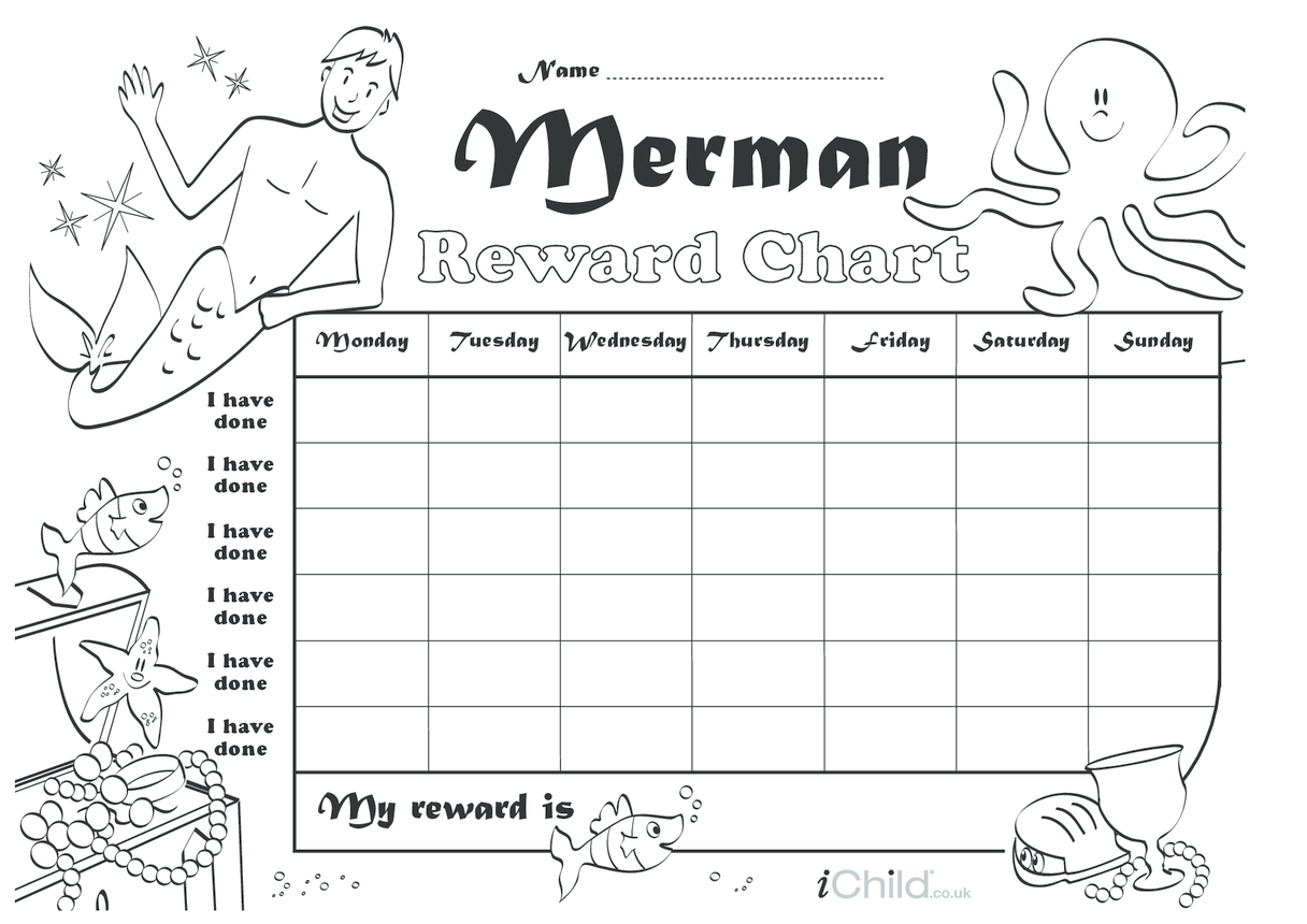 Merman Reward Chart