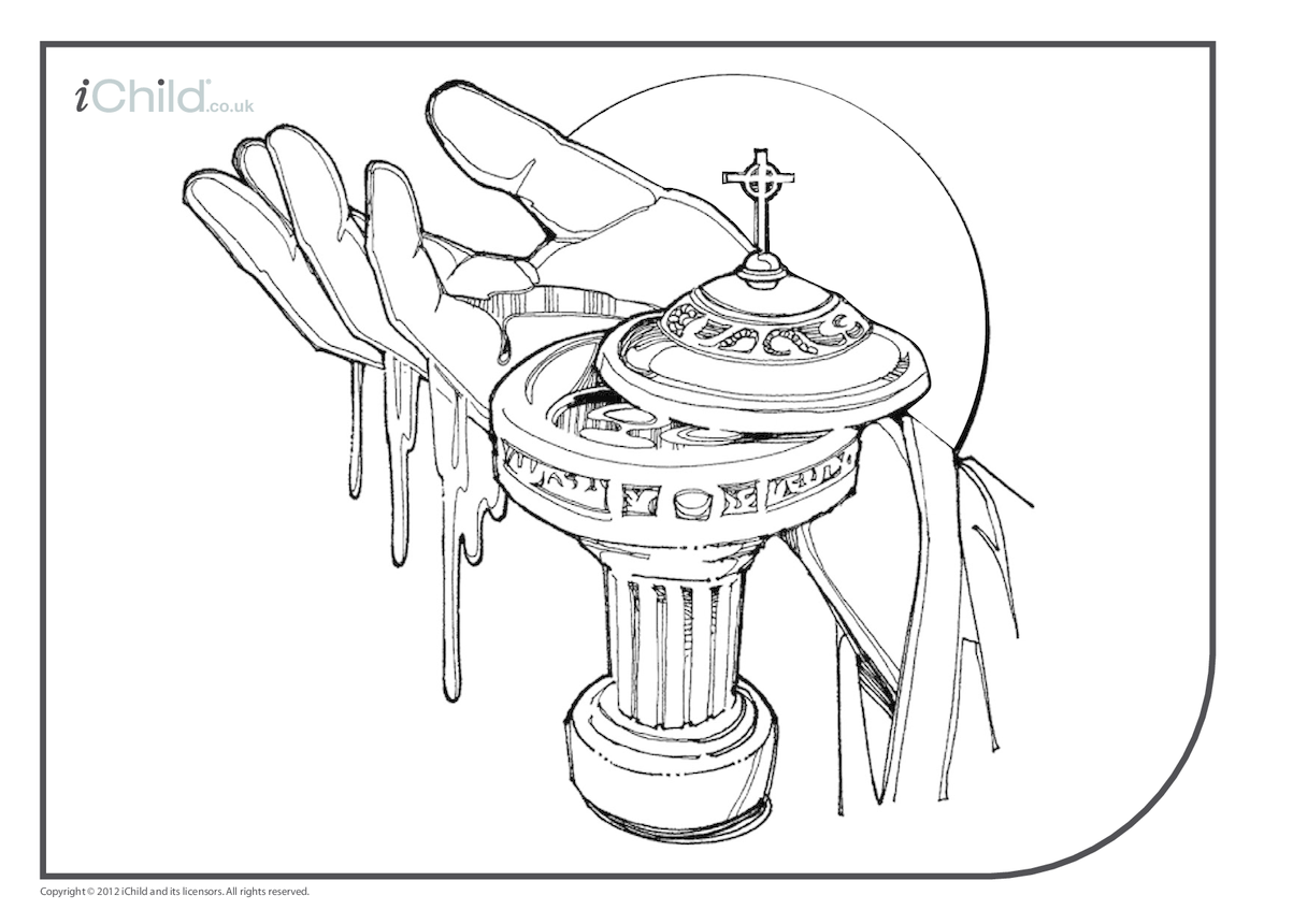 Baptism Colouring in Picture