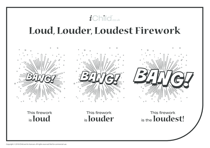 Thumbnail image for the Loud, Louder, Loudest Firework activity.