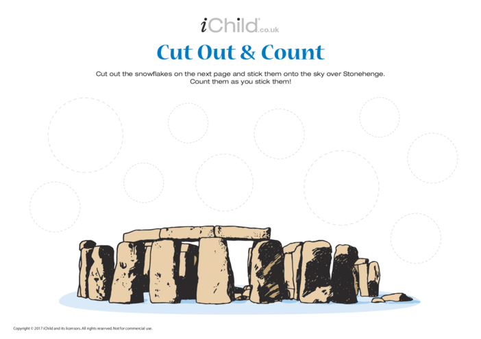 Thumbnail image for the Stonehenge - Cut Out & Count activity.