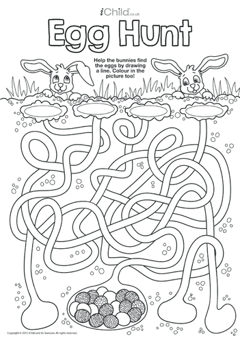 Thumbnail image for the Egg Hunt Maze activity.