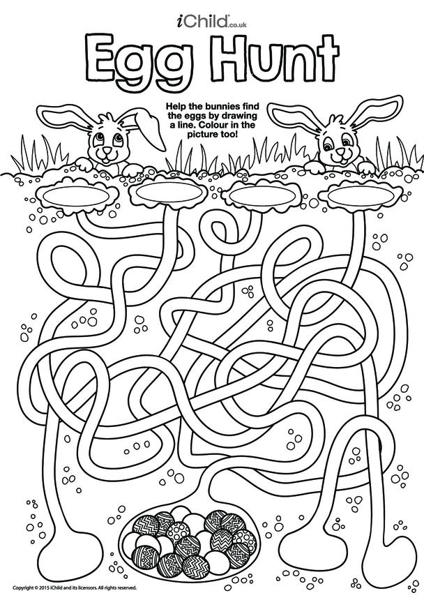 Egg Hunt Maze