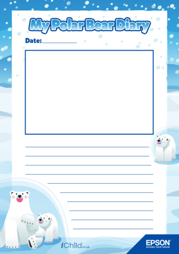Thumbnail image for the 4) Epson Polar Bear Diary Template- Large Photo Space activity.