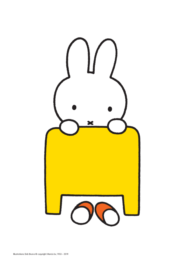 Miffy in Bed Poster (less ink)