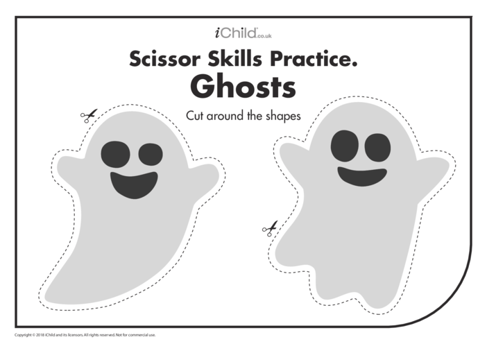 Thumbnail image for the Scissor Skills Practice: Ghosts activity.