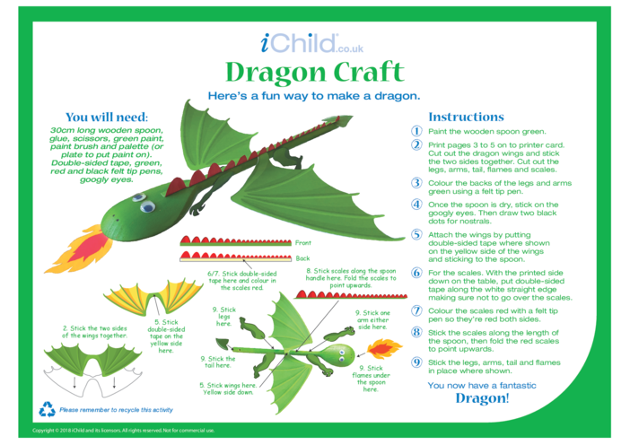 Thumbnail image for the Make a Dragon Craft activity.