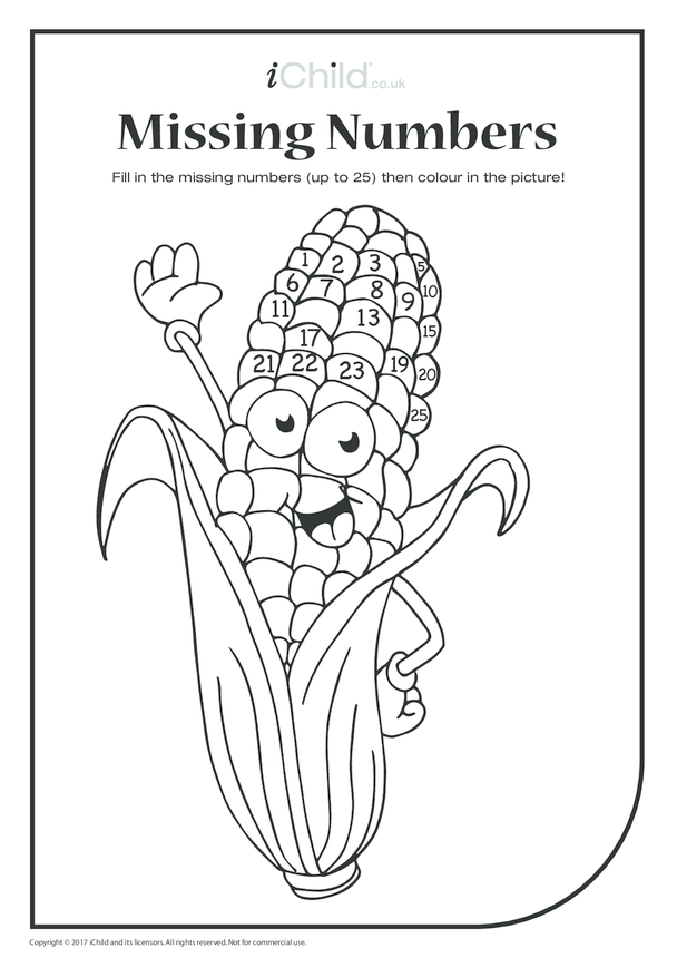 Missing Numbers - Corn on the Cob