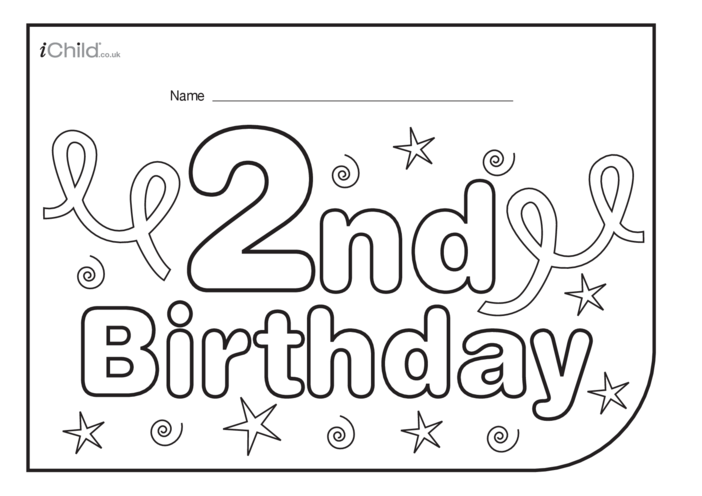 Thumbnail image for the Birthday Party Place Mats for 2 year old 2nd birthday activity.