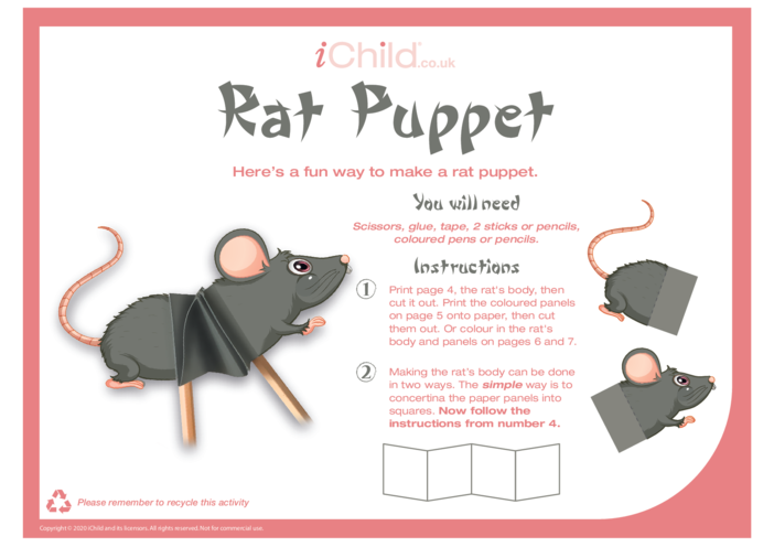 Thumbnail image for the Chinese New Year of the Rat Puppet activity.