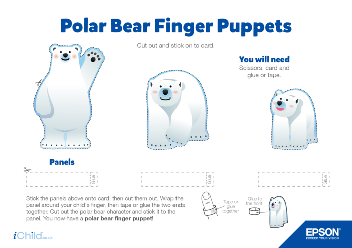 Thumbnail image for the Epson Polar Bear Finger Puppets activity.