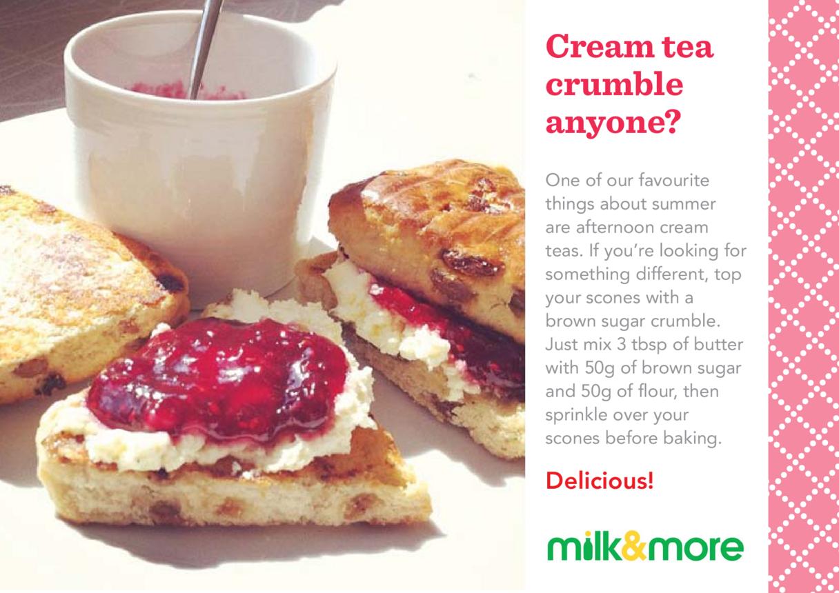 Cream Tea Crumble Serving Suggestion