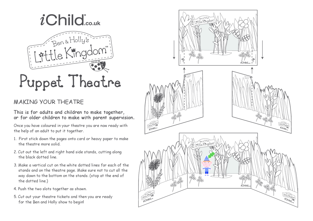 Finger Puppet Theatre: Ben & Holly's Little Kingdom- Black and White