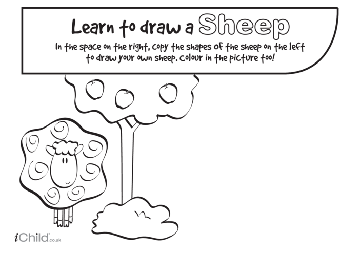 Thumbnail image for the Learn to Draw a Sheep activity.