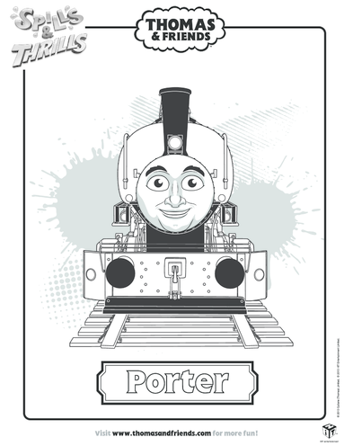Thumbnail image for the Porter Colouring in Picture (Thomas & Friends) activity.