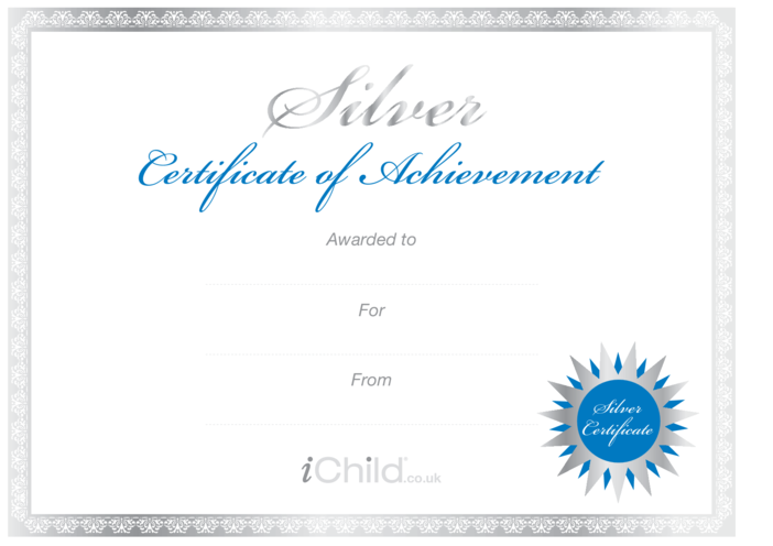 Thumbnail image for the Certificate - Silver activity.