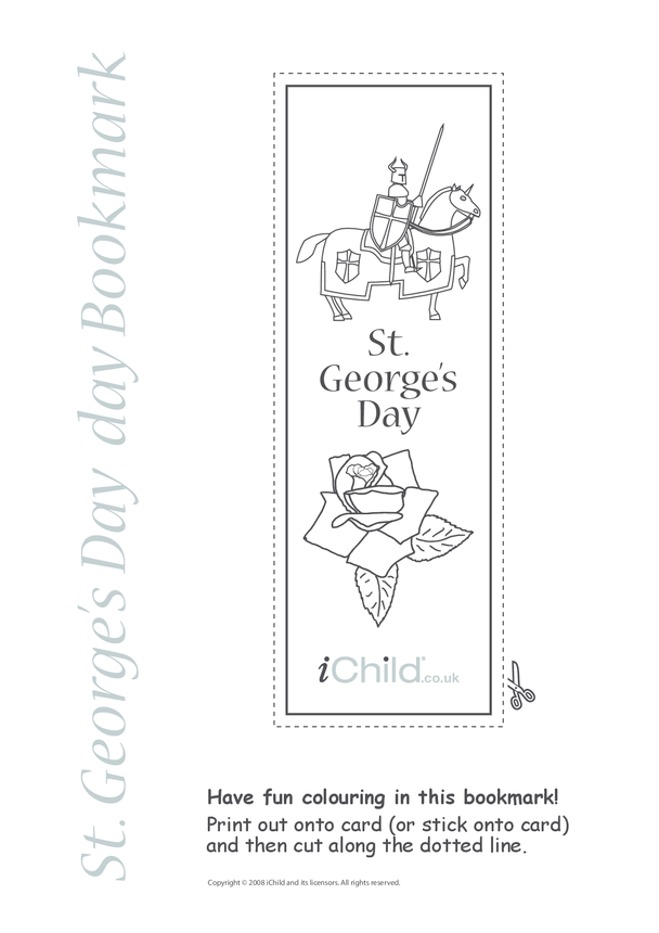 St. George's Day Bookmark
