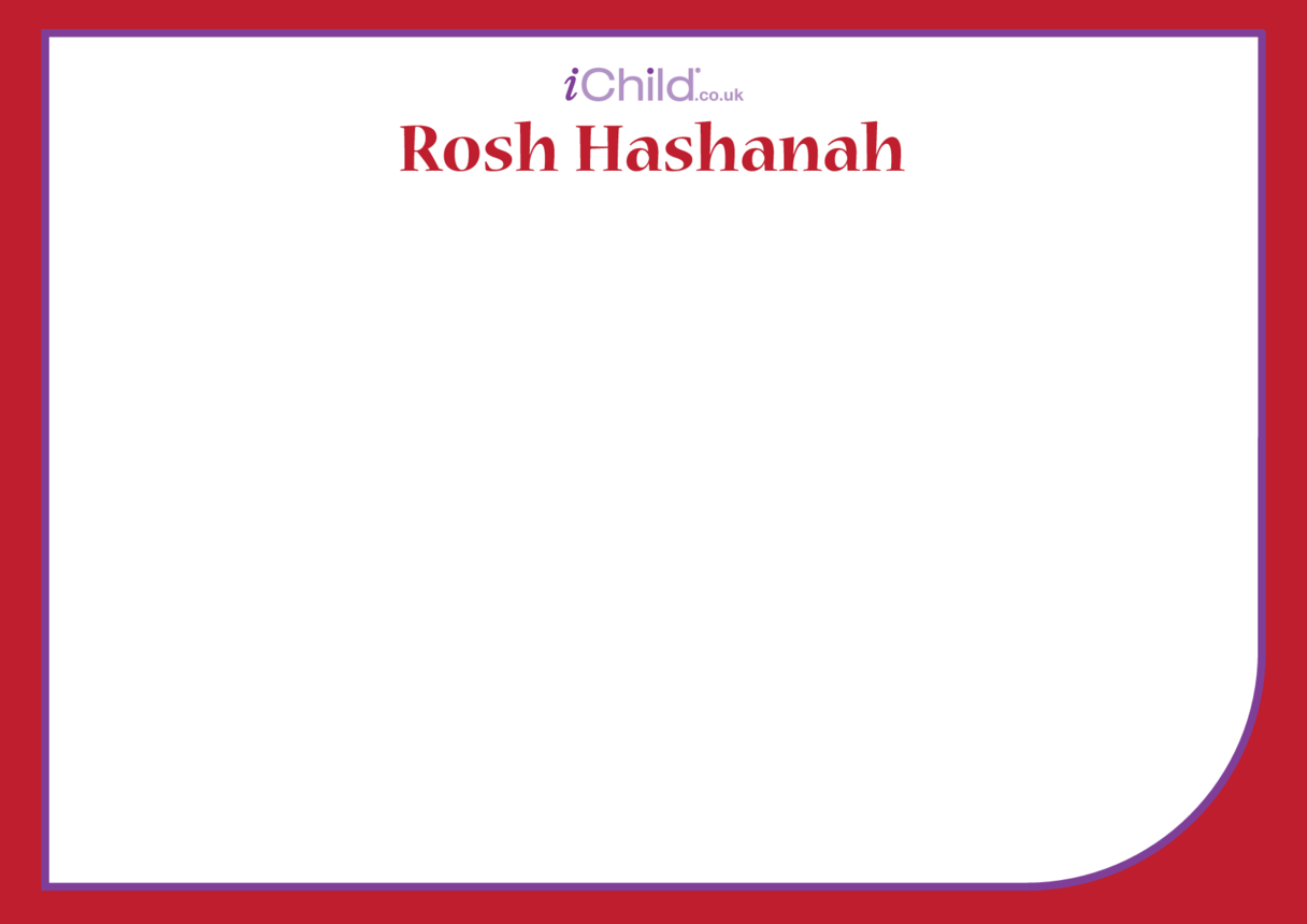 Rosh Hashanah Blank Drawing Template
