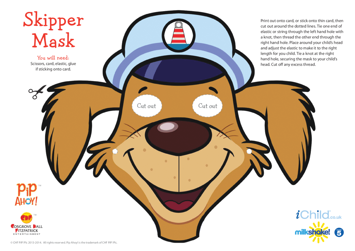 Uncle Skipper Face Mask (Pip Ahoy!)