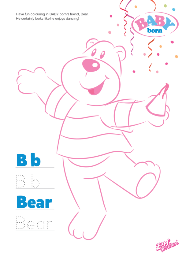 2021 BABY born Bear Colouring in Picture