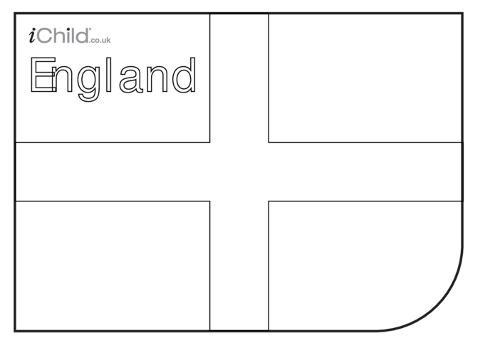 Thumbnail image for the Cricket World Cup England Flag Colouring in picture activity.