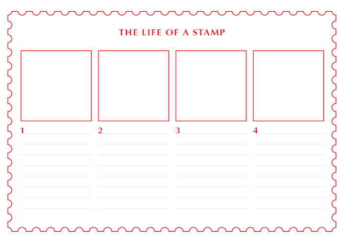 Thumbnail image for the 2013_Primary 1) The Life of a Stamp (Drawing & Writing Template) activity.