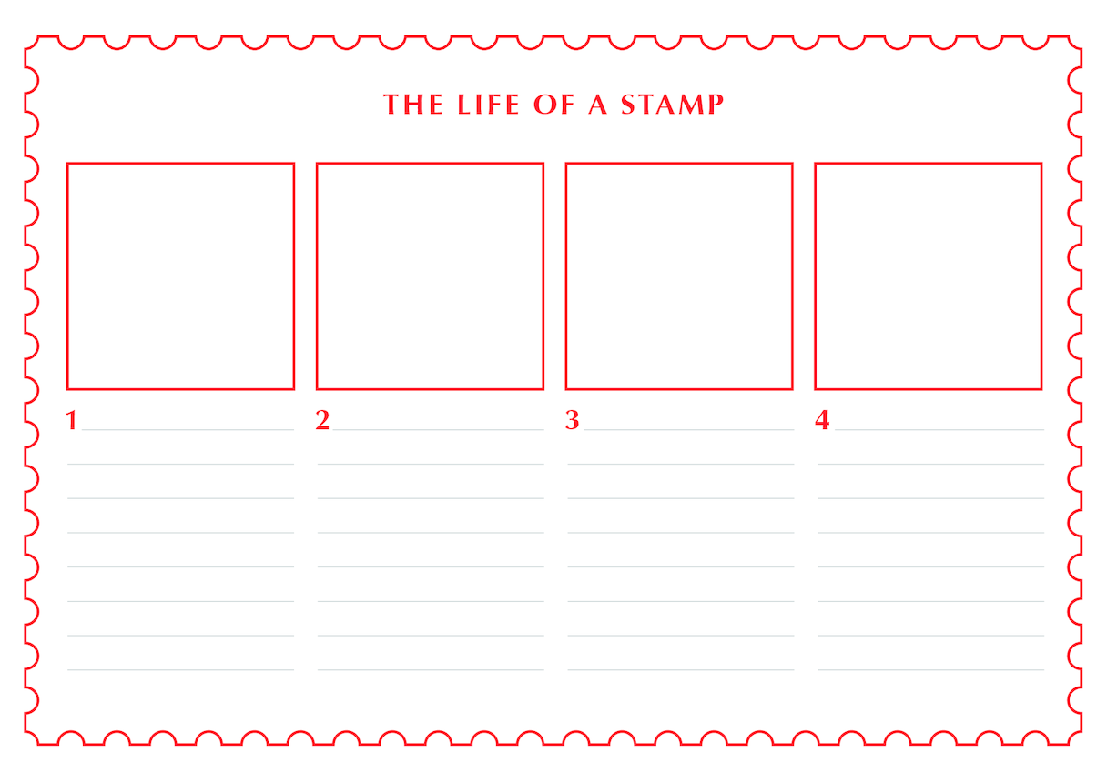 2013_Primary 1) The Life of a Stamp (Drawing & Writing Template)