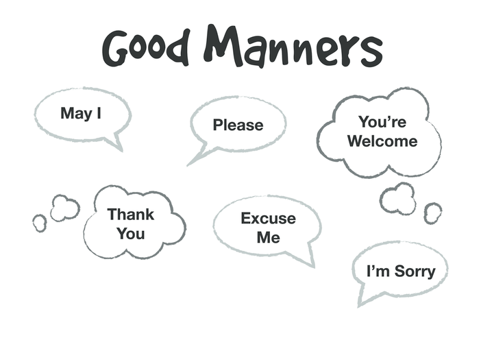 Thumbnail image for the Good Manners (black & white) - Signs & Posters activity.