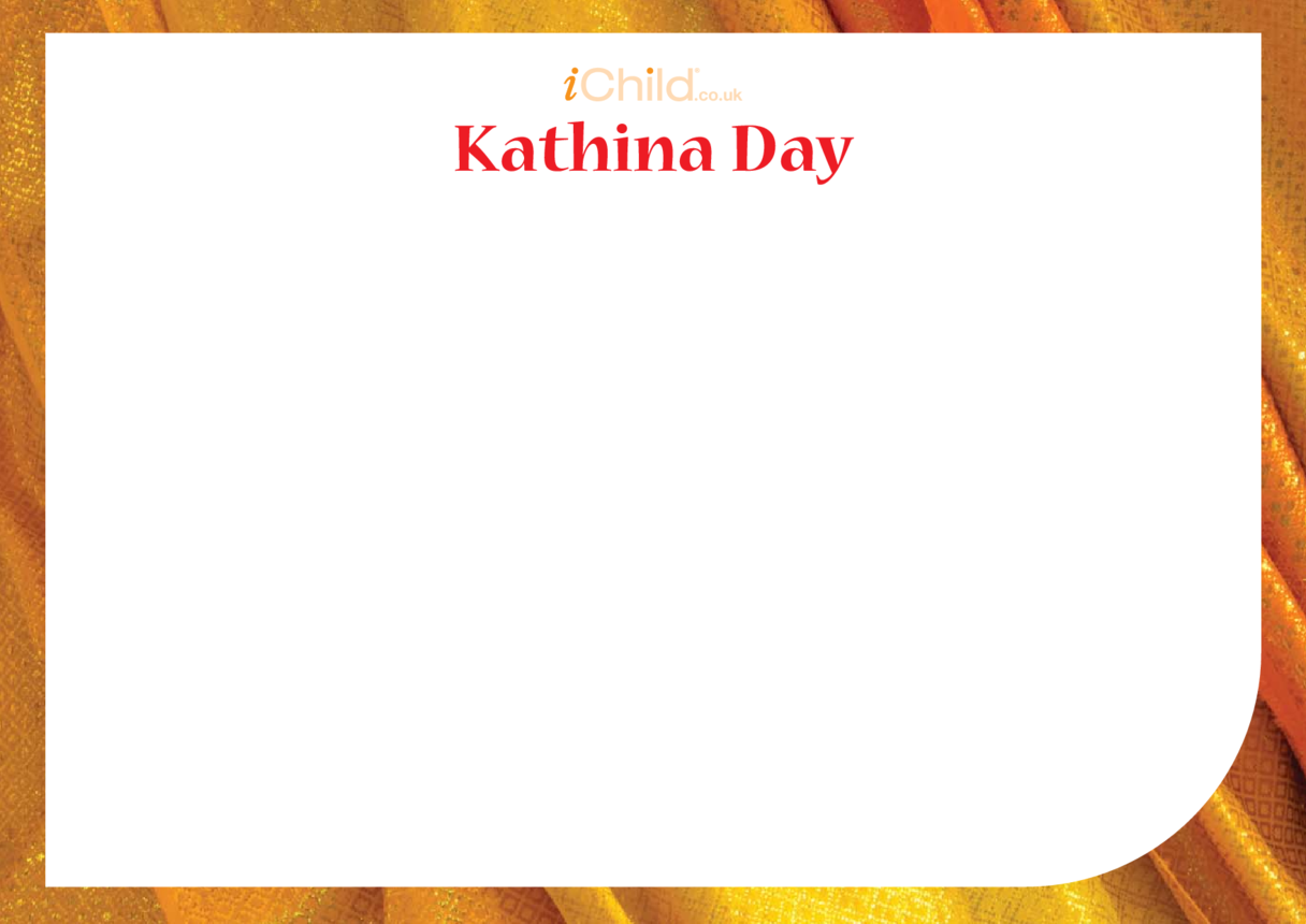 Kathina Day Blank Drawing Template