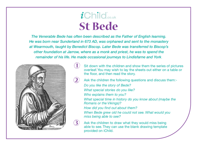 Thumbnail image for the St. Bede Religious Festival Story activity.