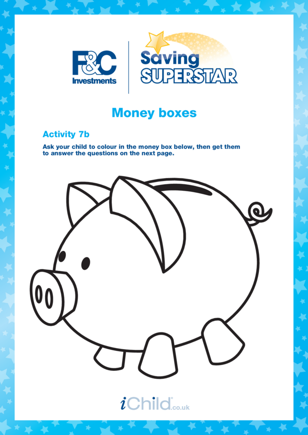 Under 5 years (7b) Money Boxes