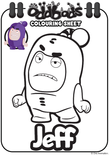 Thumbnail image for the Colouring In Jeff Oddbods activity.