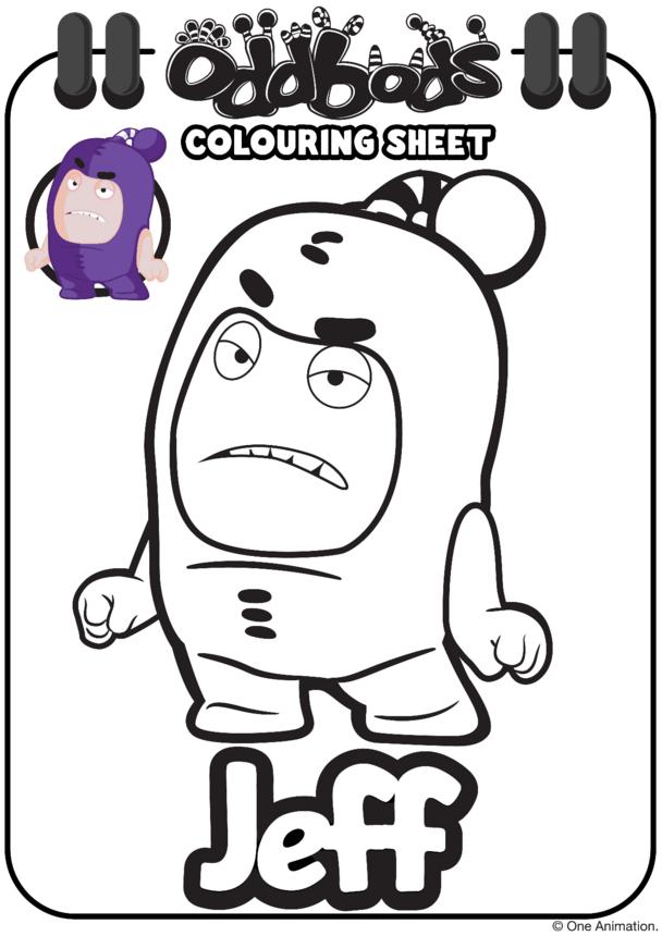 Colouring In Jeff Oddbods