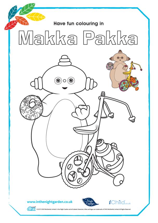 Makka Pakka Colouring in Picture