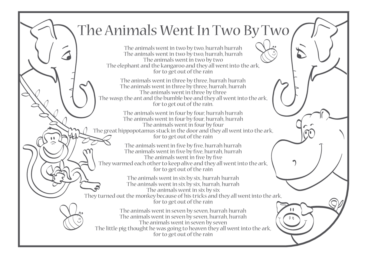 The Animals Went In (Two By Two) Lyrics