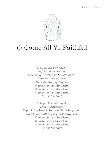 Thumbnail image for the Christmas Carol Lyrics: O Come All Ye Faithful activity.
