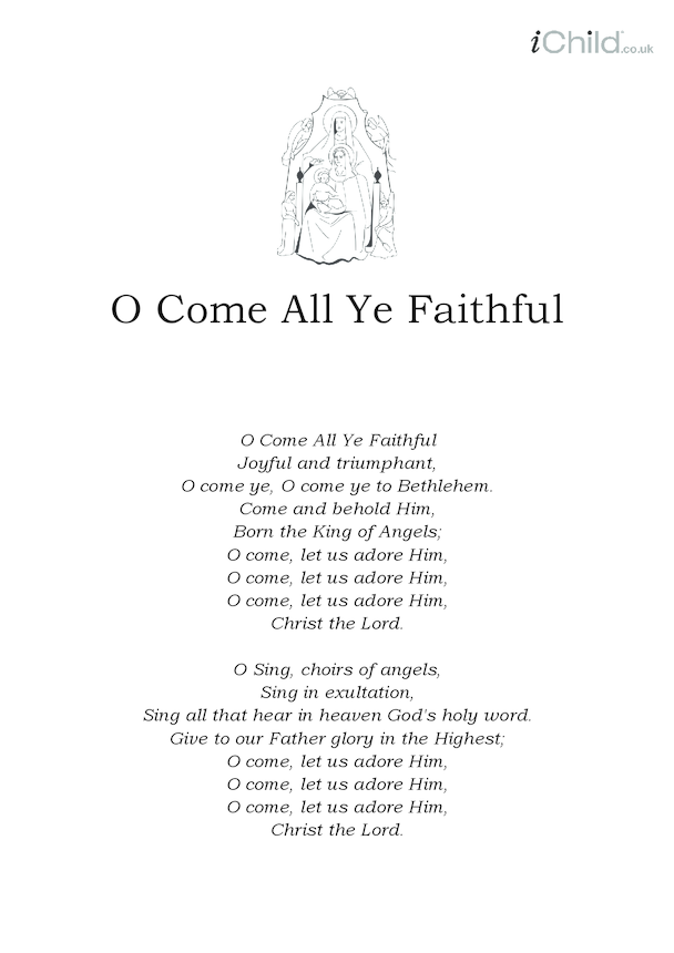 Christmas Carol Lyrics: O Come All Ye Faithful