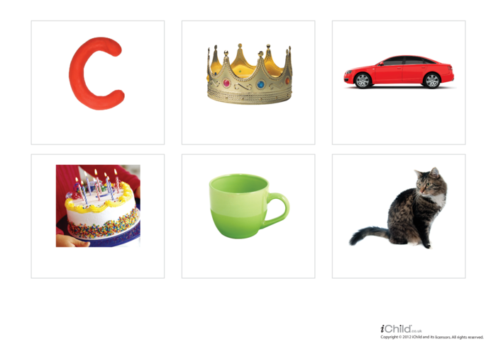 Thumbnail image for the Letter of the Alphabet: C - Photo Flashcard activity.