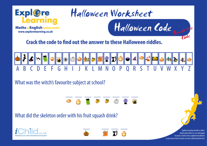 Thumbnail image for the Halloween Code activity.