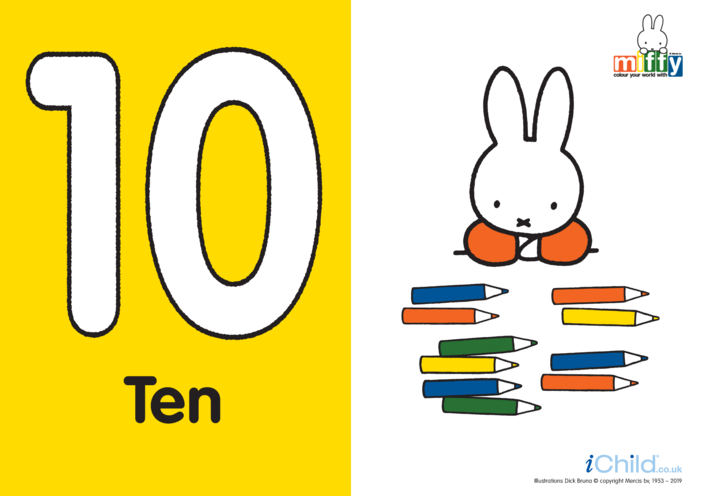 Thumbnail image for the Number 10 with Miffy activity.