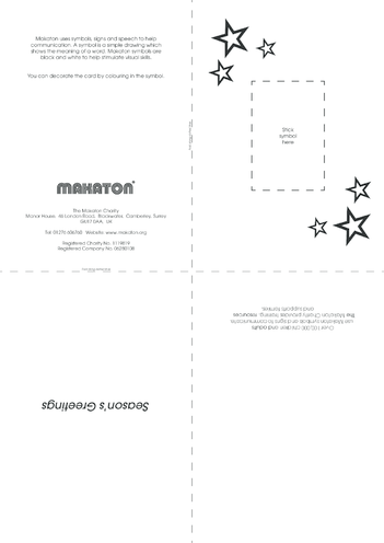 Thumbnail image for the Christmas Card Templates with Makaton Symbols activity.