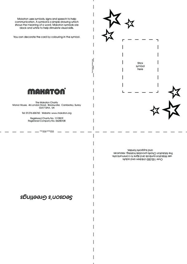 Christmas Card Templates with Makaton Symbols