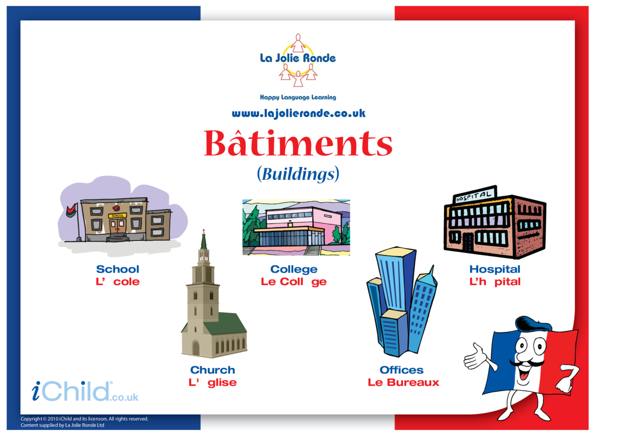 Buildings in French