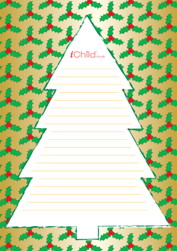 Thumbnail image for the Christmas Lined Writing Paper Template activity.