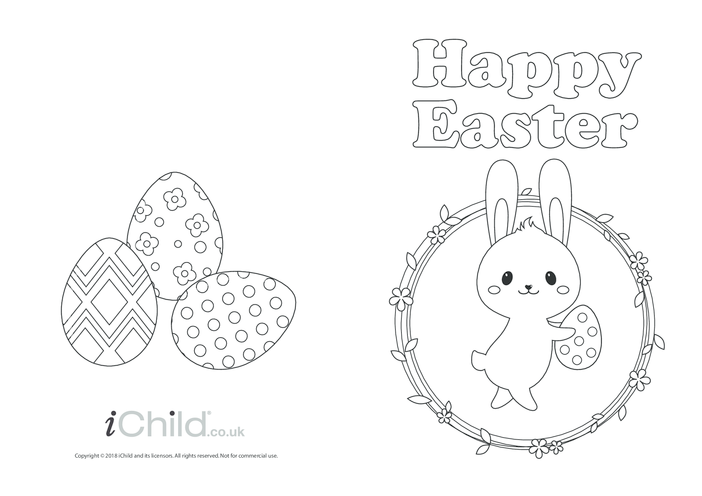 Thumbnail image for the Easter Card - Happy Easter activity.
