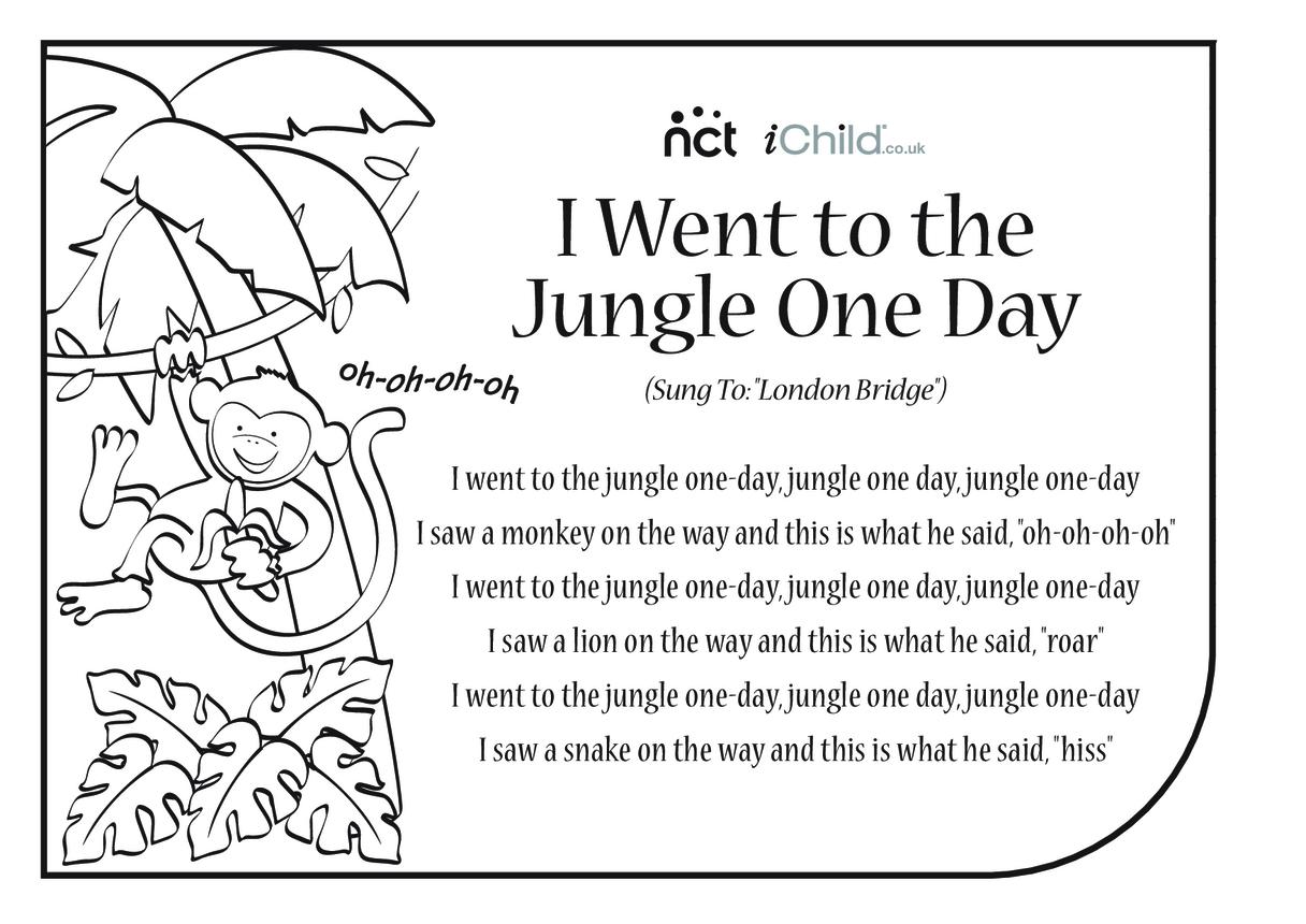 Cheeky Monkey Song Sheet