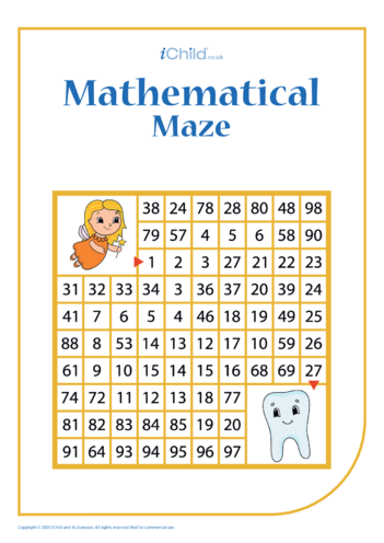 Thumbnail image for the Tooth Fairy Mathematical Maze activity.