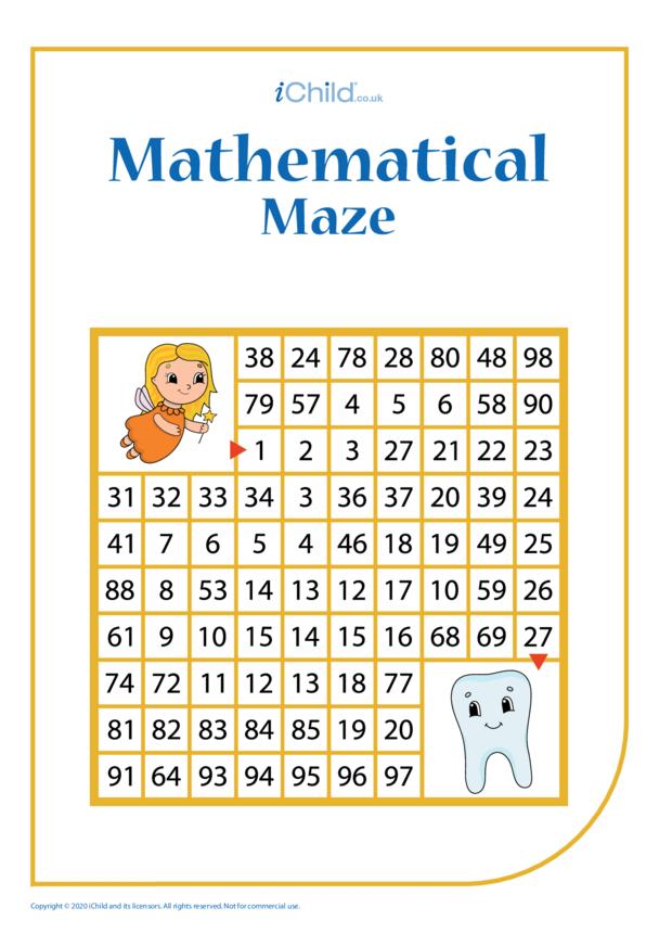 Tooth Fairy Mathematical Maze